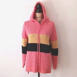 Promesa Colorblock Striped Cozy Hoodie Sweater